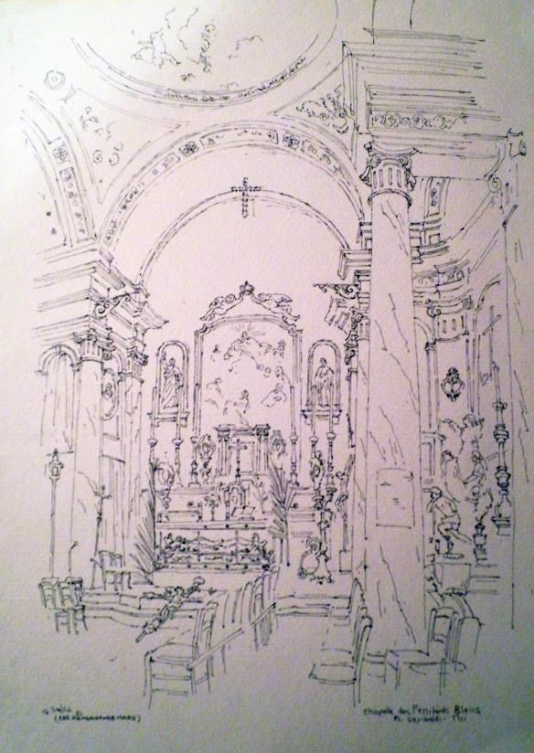 Chapelle du Saint-Sépulcre des Pénitents Bleus, Pl. Garibaldi, Nice, Les Rameaux