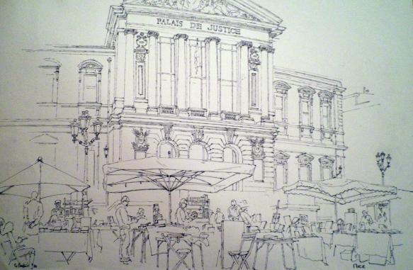 Palais de Justice, Nice, Géraldine Sadlier