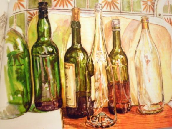 Geraldine Sadlier Illustration Bottles