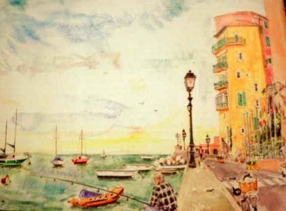 Geraldine Sadlier Illustration Villefranche sur mer