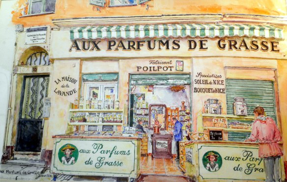 aux parfums de grasse watercolour painting geraldine sadlier
