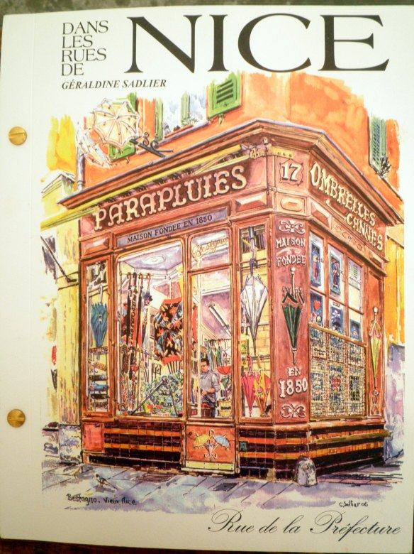 dans les rues de nice book watercolours geraldine sadlier